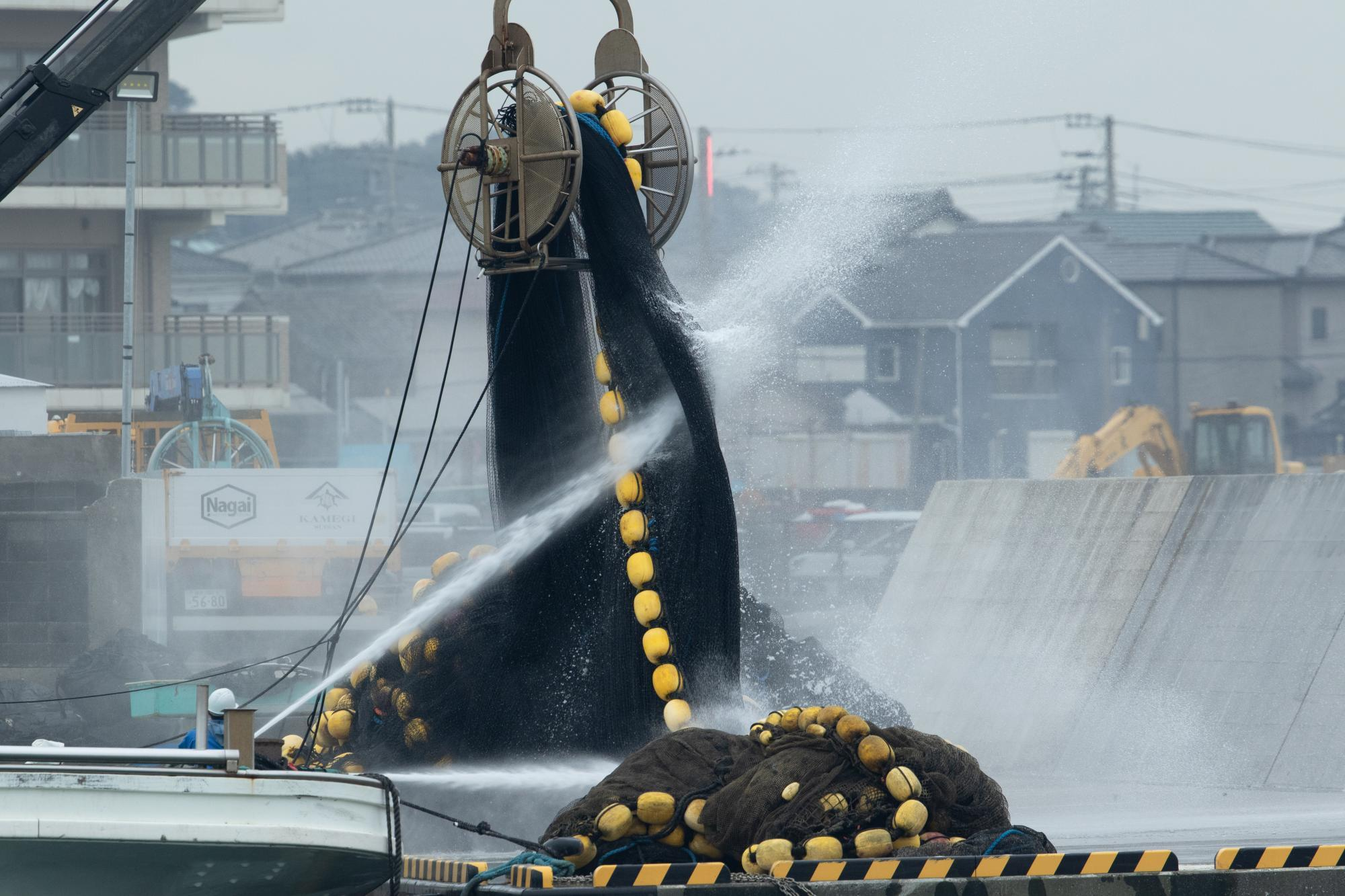 20200127-漁網洗い