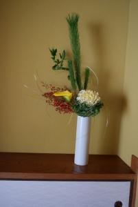 床の間生け花