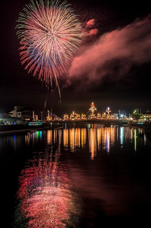 2019.07.20燈籠山祭りの花火 (8)