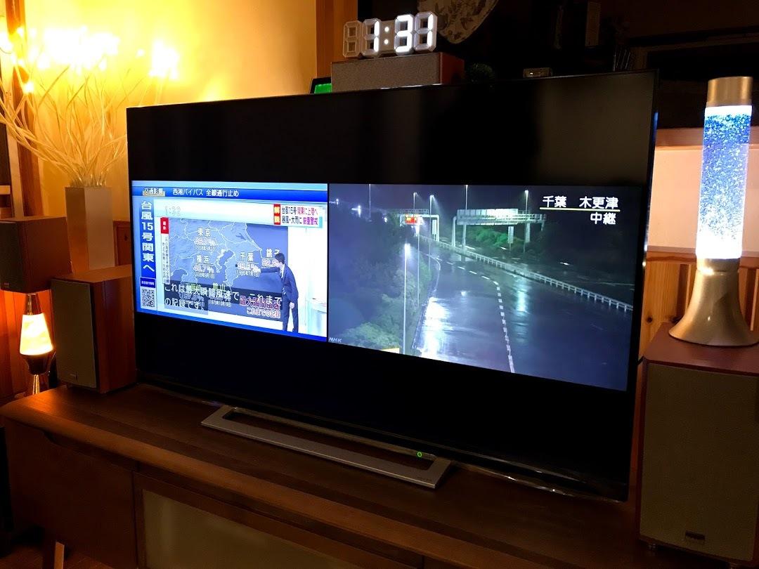 テレビ2画面で情報収集
