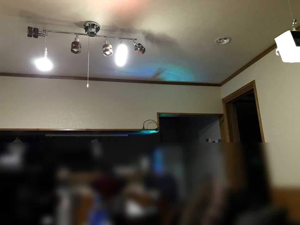 充電式LEDライトで明るい