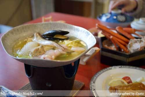 島根県 松江市 美保関 福間館 夕食 和食 かに料理 海鮮 刺身 美味い 宿泊予約 01