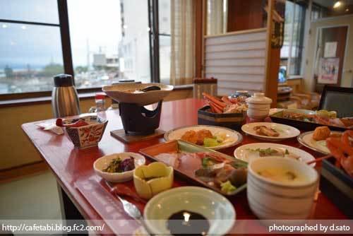 島根県 松江市 美保関 福間館 夕食 和食 かに料理 海鮮 刺身 美味い 宿泊予約 11