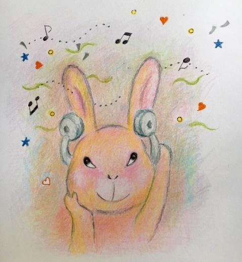 ヘッドホンウサギ
