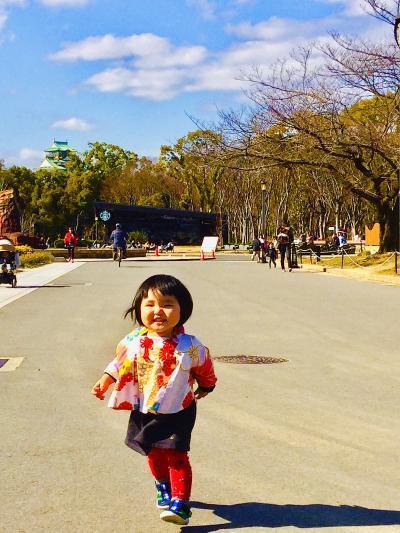 もりうた、大阪城で走る400