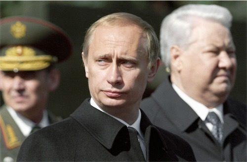 プーチン氏とエリツィン氏6565955