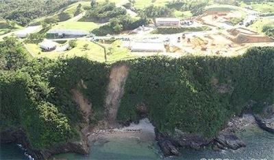 崖崩れが起きた米軍辺野古弾薬庫の沿岸f99e27ad49476f1d70e719d761ba0fb4