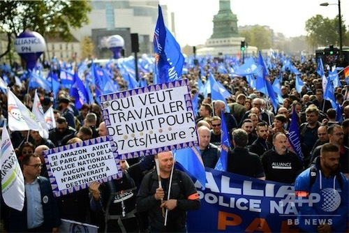 自殺者急増の仏警察官らがデモ 労働条件の改善を要求m_afpbb-3247832