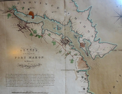 Port Mahon Map 1813
