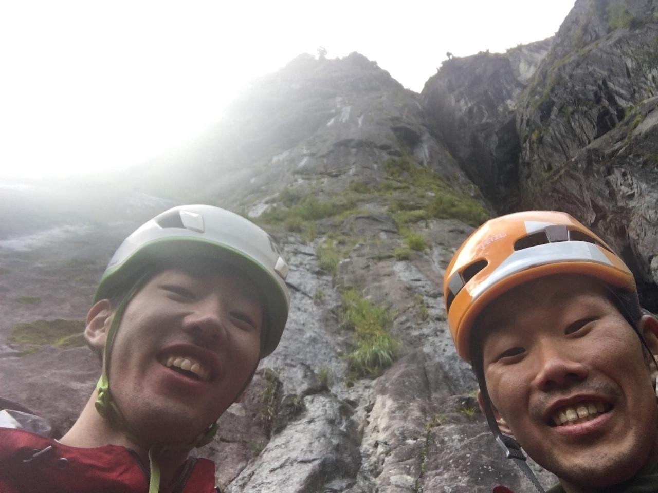 写真_仙田先輩と丸山東壁緑ルート