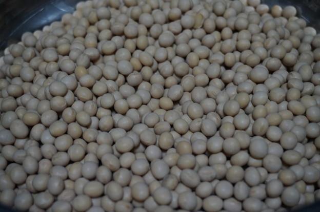 カチカチの大豆