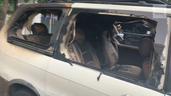 韓国でガソリンを撒き焼身自殺テロ発生 日本大使館に車ごと突っ込み大爆発