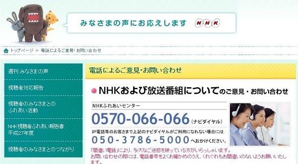 NHKふれあいセンター 0570-066-066