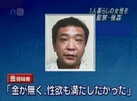 ●金平和 →韓国人 大阪、神戸で女性ばかり21件の強盗強姦や逮捕監禁