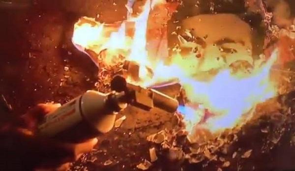 昭和天皇の御真影を燃やす動画 20191008「不自由展」再開!河村市長は抗議の座り込み&開催費支払い留保!マスゴミは隠蔽の虚偽報道を継続