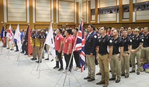 「国際防衛ラグビー」始まる 自衛隊と9カ国の軍隊チーム対戦