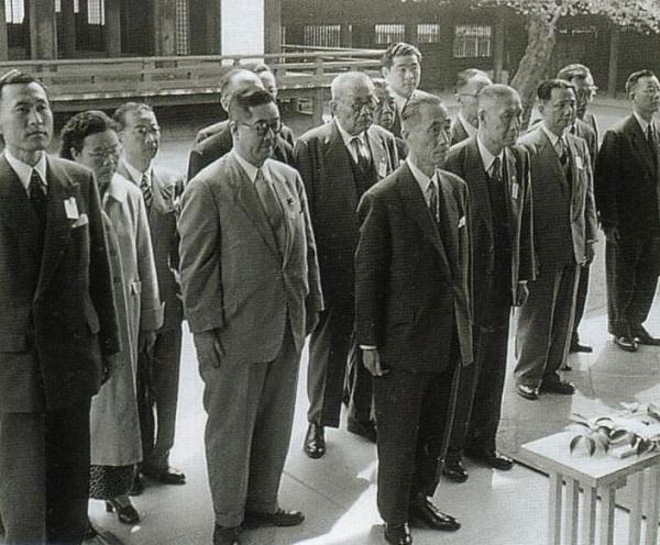 >昭和31(1956)年4月19日 中華民国 張道藩・立法院院長一行