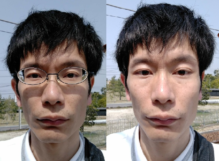 安慎裸眼と眼鏡の顔3