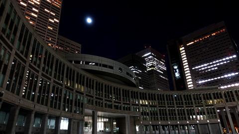 夜の新宿新都心