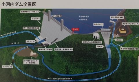 小河内ダム全景図