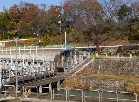 羽村線導水路入口・第3水門