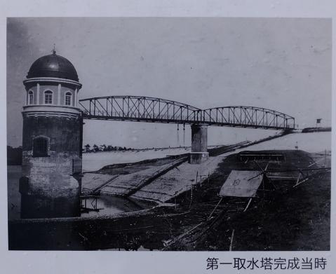 村山下貯水池第1取水塔・完成時の写真