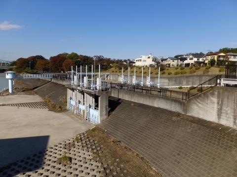 小作取水堰・樋門ゲートと流量調節ゲート
