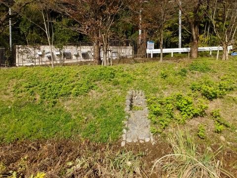 三井植物浄化施設の棚田の送水渠
