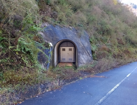 深城ダムのグラウチングトンネル