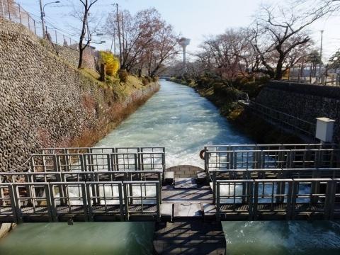 第2水門と玉川上水
