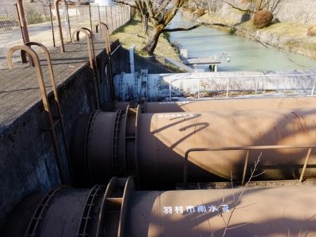 玉川上水を渡る水管橋