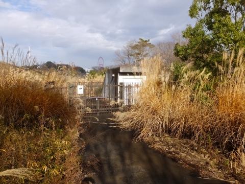 村山下ダム堰堤下の施設