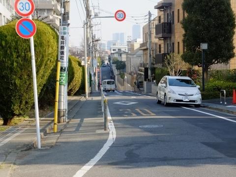 渋谷区立玉川上水旧水路緑道沿いの景色
