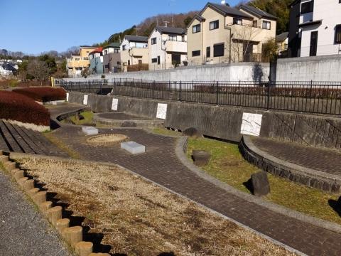 真光寺川右岸の調節池