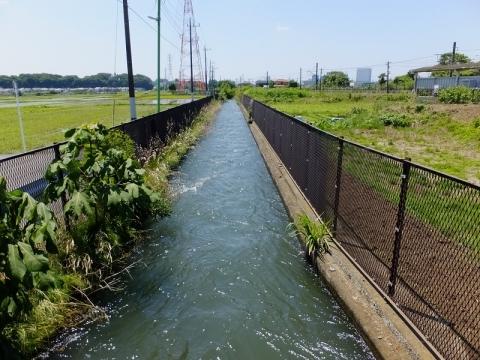 相模川左岸幹線用水路・JR入谷駅付近
