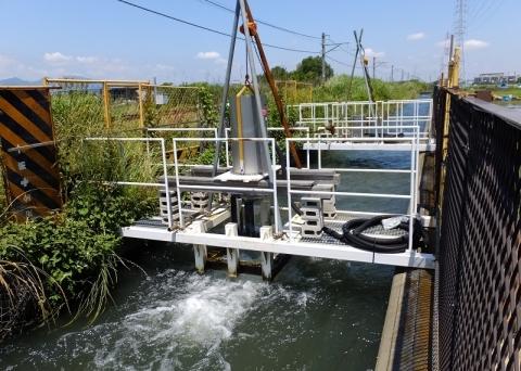 相模川左岸幹線用水路・小水力発電