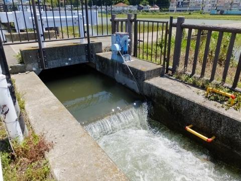 榎戸支線用水路の取水堰