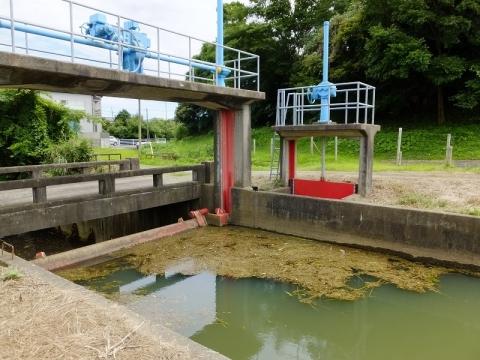 真亀川の取水堰・取水ゲート