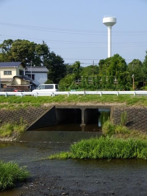 小鮎川右岸の旧小鮎川樋門