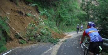 大峰林道のがけ崩れ