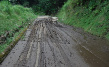 大峰林道の泥