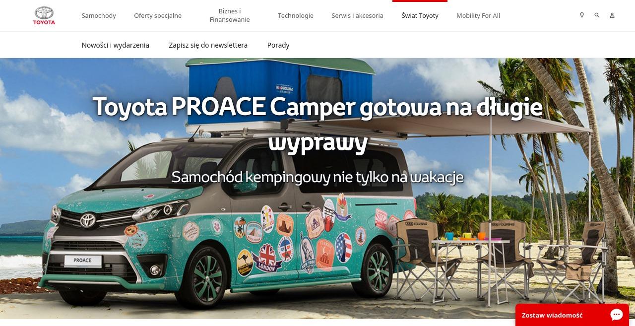 Kempingowa Toyota PROACE Camper gotowa na wyprawy
