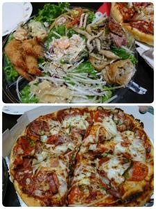 サラダオードブルピザ
