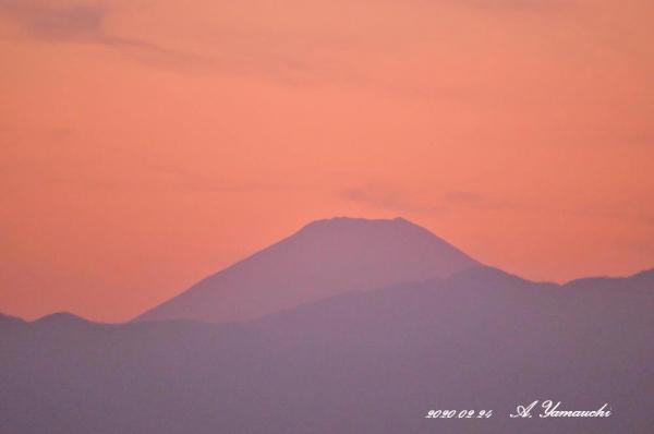 日没後の夕富士