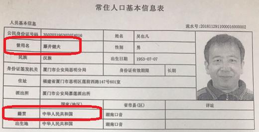 健夫の名前と国籍