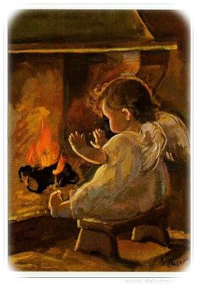 暖炉と天使