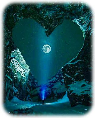ハートと満月
