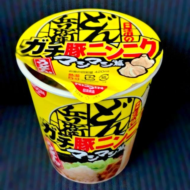 61 どん兵衛ガチ豚ニンニクうどん  (1)