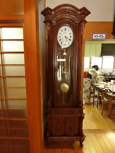 お花茶屋柱時計