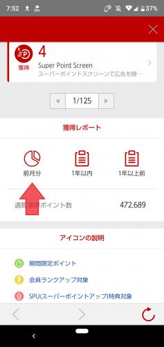 楽天PointClubアプリ 獲得レポートの円グラフ②